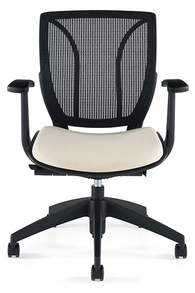 Global Roma Mesh Back Posture Chair In BLACK COAL