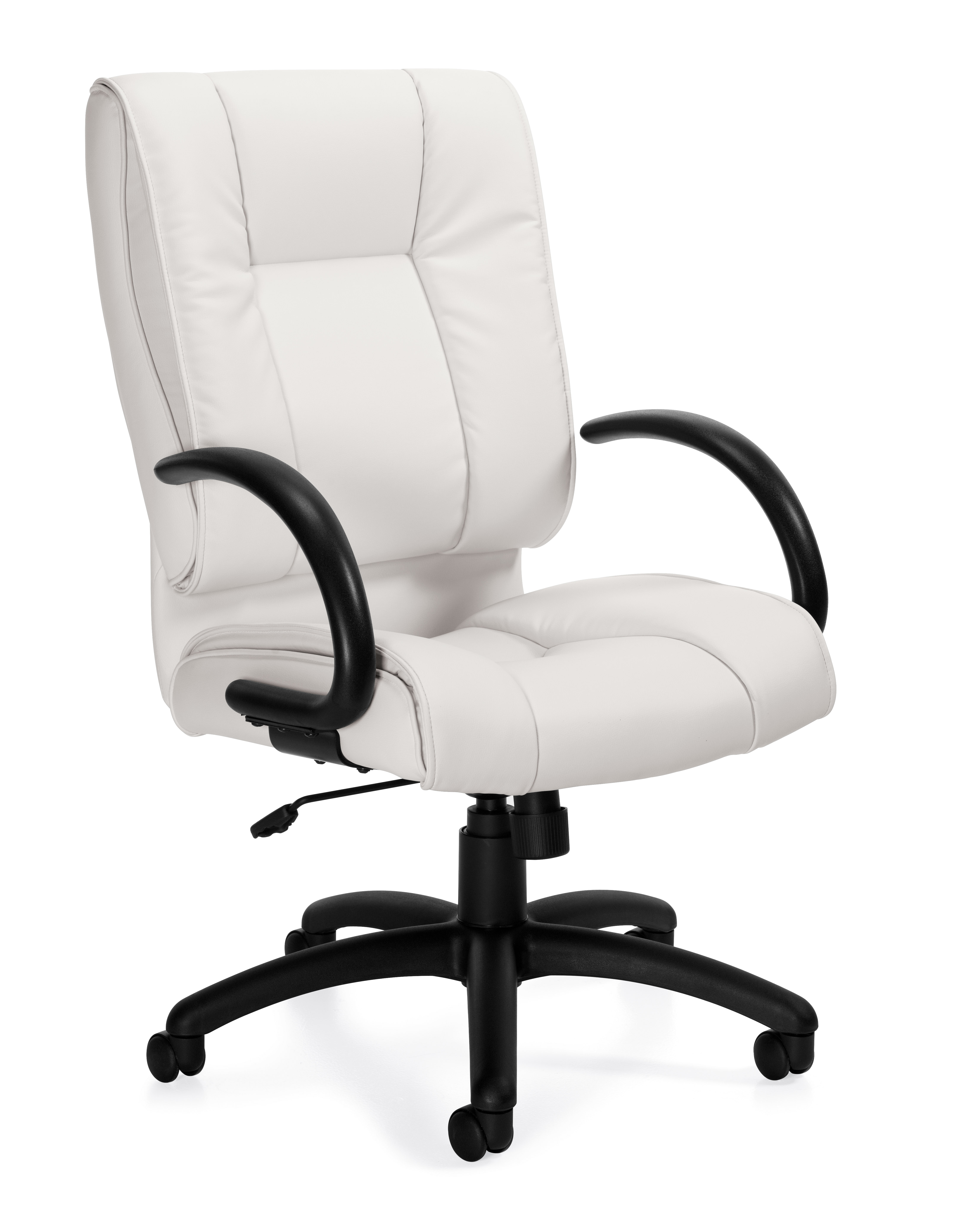 Convenience Boutique White Leather Office Chair. Best Infinity Line ...