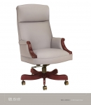 JSI Belle High Back Executive Chair, Upholstered Arm