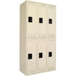 Tennsco Triple Unit, Double Tier Lockers
