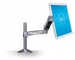 Flat Screen Monitor Arm. Effortless Adjustment - Silver