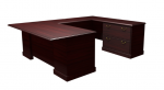 "Cambria Laminate ""U"" Unit w/ Lateral File Credenza, Left"