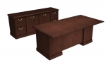 Cambria Laminate Executive Desk & Credenza Package