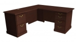 "Cambria Laminate ""L"" Desk & Return, Left Hand"