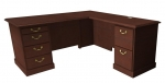 "Cambria Laminate ""L"" Desk & Return, Right Hand"