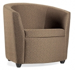 Global Sirena Single Seat Fully Upholstered Lounge Chair