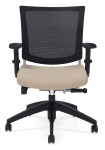 GRAPHIC-Medium back posture chair with mesh back. in COAL