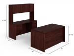 HON 10500 Desk, Credenza Stack-On