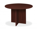 "Basyx Laminate 48""  Round Conference Table w/X-Base"