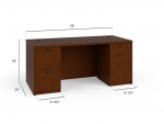"Basyx 66"" Laminate Desk with 2 Peds"
