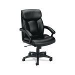 BASYX Overstuffed Leather Executive Chair