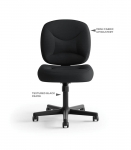BASYX Light Duty Task Chair/Armless