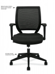 BASYX Mesh-Back Task Chair