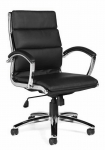 OTG Leather (Luxhide*) Executive Segmented Cushion Chair with Arms