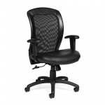 OTG (Luxhide*) Mesh Back Chair with Adj. Arms
