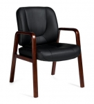 OTG (Luxhide*) Guest Chair with Wood Accents