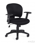 OTG Mesh Fabric Mid-Back Chair with Adj Arms