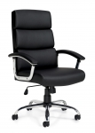 OTG Black Luxhide Segmented Cushion Chair