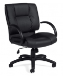 OTG Leather (Luxhide*) Mid-back Chair with Arms.