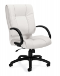 OTG Luxhide Executive Chair-White