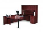 OTG Superior Laminate U-Shape Desk Unit with D-Island Top