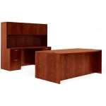 OTG Superior Laminate Desk with Credenza and Table