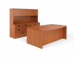 OTG Superior Laminate Bow Front Desk with Storage Credenza