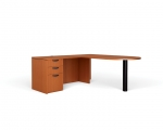 OTG Superior Laminate L-Shape Desk with D-Island Top
