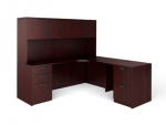 OTG Superior Laminate  L-Shape Desk-RIGHT with Overhead