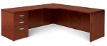 Ventnor Wood Veneer L-Shape Desk Unit, LEFT