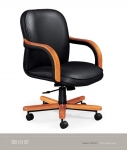 JSI Anthem Mid Back Executive Chair w/ Wood Arm