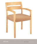 JSI GALLERY Wood Guest Chair, Plain Slat Back, Uph Seatt