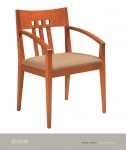 JSI KENDALL Wood Side Chair, Uph Seat, Vert Slat Back