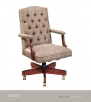 JSI MADISON Executive Chair, tufted back, GOLD TRIM NAILS