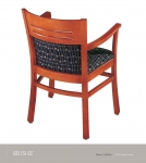 JSI REVUE Wood Side Chair, Uph seat back