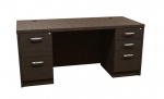 Trendway Executive Intrinsic 30D x 66W Double Pedestal Desk