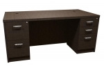 Trendway Executive Intrinsic 36D x 72W Double Pedestal Desk
