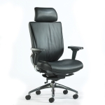 Trendway Code Executive Leather, Adj Headrest, Adj Arms