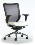 Trendway Code Task, Mesh Back, Upholstered Seat with Adj Arms