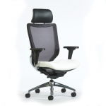 Trendway Code Executive Mesh Back Chair with Adjustable Headrest & Arms