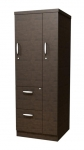 Trendway Executive Intrinsic Storage Tower with FF Drawers & Wardrobe