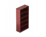 Ventnor Wood Veneer Bookcase 5 Shelf