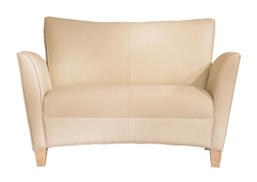 Jsi Corbin Two Seat Lounge Chair Wood Leg