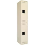 Tennsco Single Unit,  Double Tier Lockers