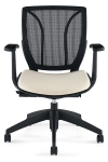 Global Roma-Mesh back posture chair in BLACK COAL