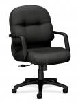HON Pillow Soft Mid-Back Managerial Leather Chair