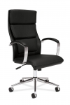 BASYX High Back Executive Leather Chair w/