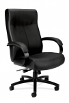 BASYX Big & Tall Executive Black Leather Chair