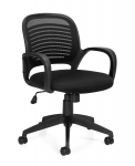 OFFICES TO GO-Mesh Seating Managers Chair w/ Loop Arm