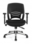 OFFICES TO GO-Mesh Back Managers Chair w/ Adj Arms
